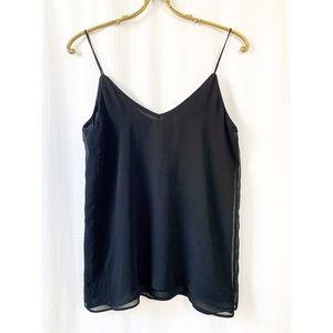 🌸 Zara semi sheer black spaghetti strap camisole
